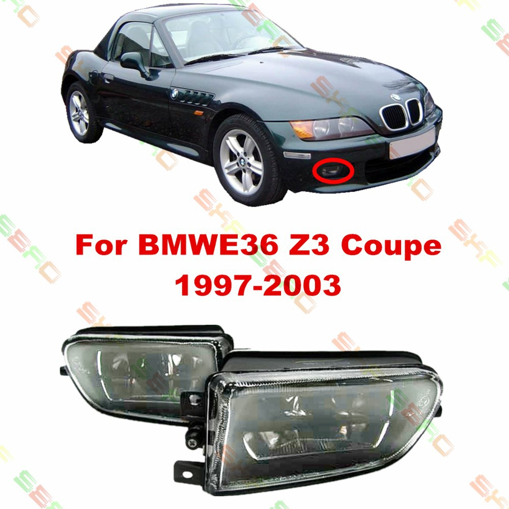 For BMW E36 Z3 Coupe  1997-2003  car styling fog lights lamps  1 SET  Crystal glass bmw m3 e30 coupe
