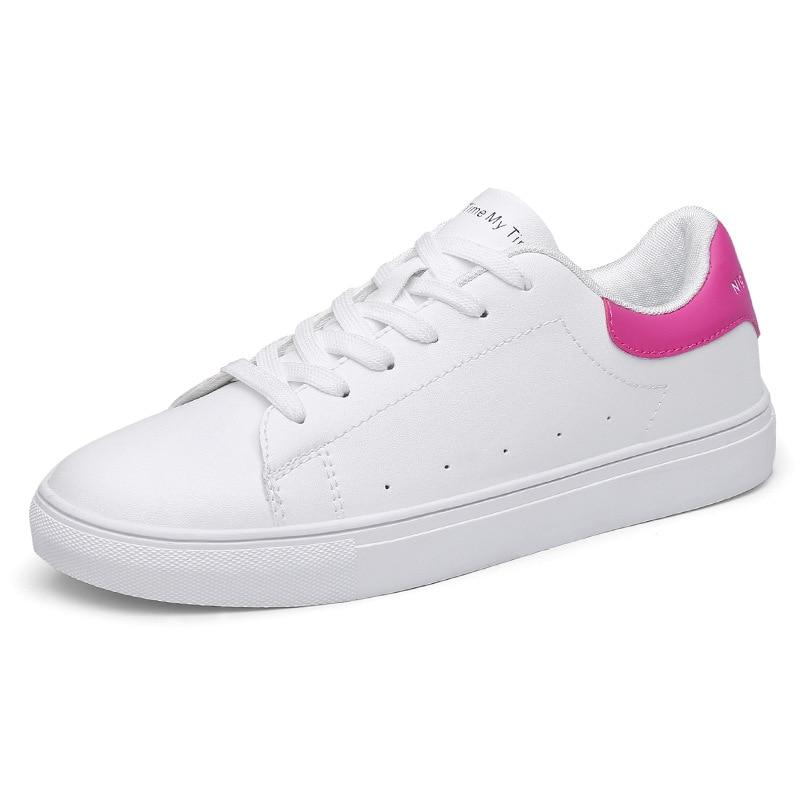 Новинка 2017 пара белые туфли Мужская Женская Спортивная обувь Открытый комфорт британский стиль кроссовки унисекс кроссовки Basket Femme