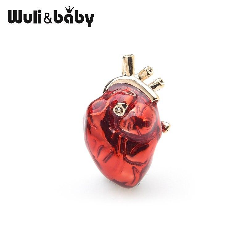 Wuli & baby, красная эмалированная бриллиантовая брошь для профессиональной униформы больницы, булавки, командные подарки