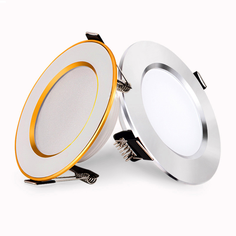 led downlights ceiling lamp dimmable 7w 9w 15w 85-265v AC 4000k showcase light recessed light cabinet wall down lamp with driver