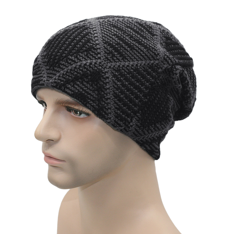 2016 Hot Spring Men Unisex Knitted Winter Cap Casual Beanies Patchwork Hip-hop Snap Slouch Skullies Bonnet beanie Hat Gorro W5