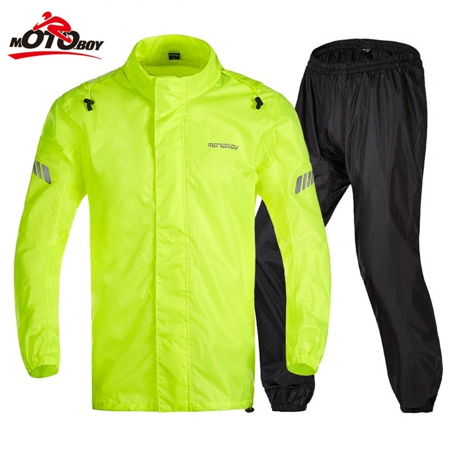 Free shipping 1set Motocross Riding Clothes Reflective Raincoat Rain Pants suit Raincoat Motorcycle Rain Jakcet And Rain Pants  benkia motorcycle rain jacket moto riding two piece raincoat suit motorcycle raincoat rain pants suit riding pantalon moto rc28