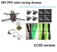 DIY race quadcopter mini drone QAV250 / ZMR250 carbon frame run with 4S kit CC3D + EMAX MT2204 II 2300KV+ Dragonfly 12A ESC opto