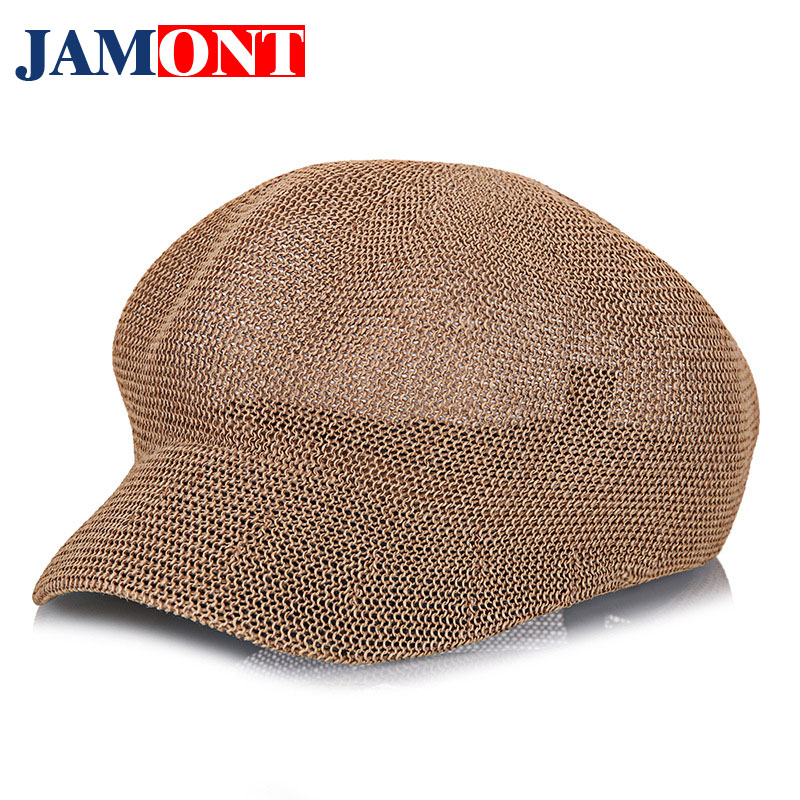 Women's Straw Knit Hat Breathable Sun Cap Summer Hat for Women 2018 Fashion Knit Hats Visor Women Leisure Caps JAMONT