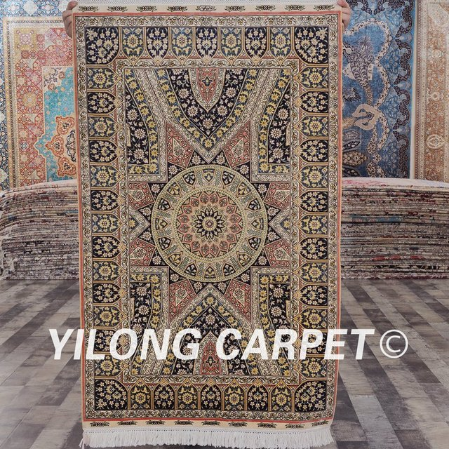 yilong hand knotted oriental persian pure silk oriental rugs sl67a2
