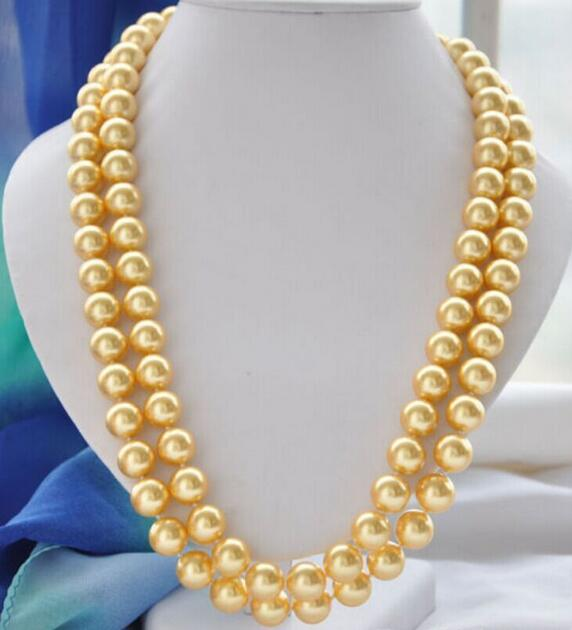 CHARME 11-12 MM NATUREL OR PERLE COLLIER 36 pouces
