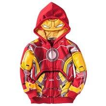 Chlapecká mikina ve stylu superhrdiny Iron Man