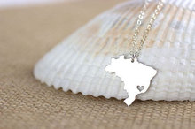 10PCS South America Country Map Brazil Necklace Brazilian Brasil Pride I Heart Love Sao Paulo City Necklaces for Souvenir Gifts cooking across america country comfort
