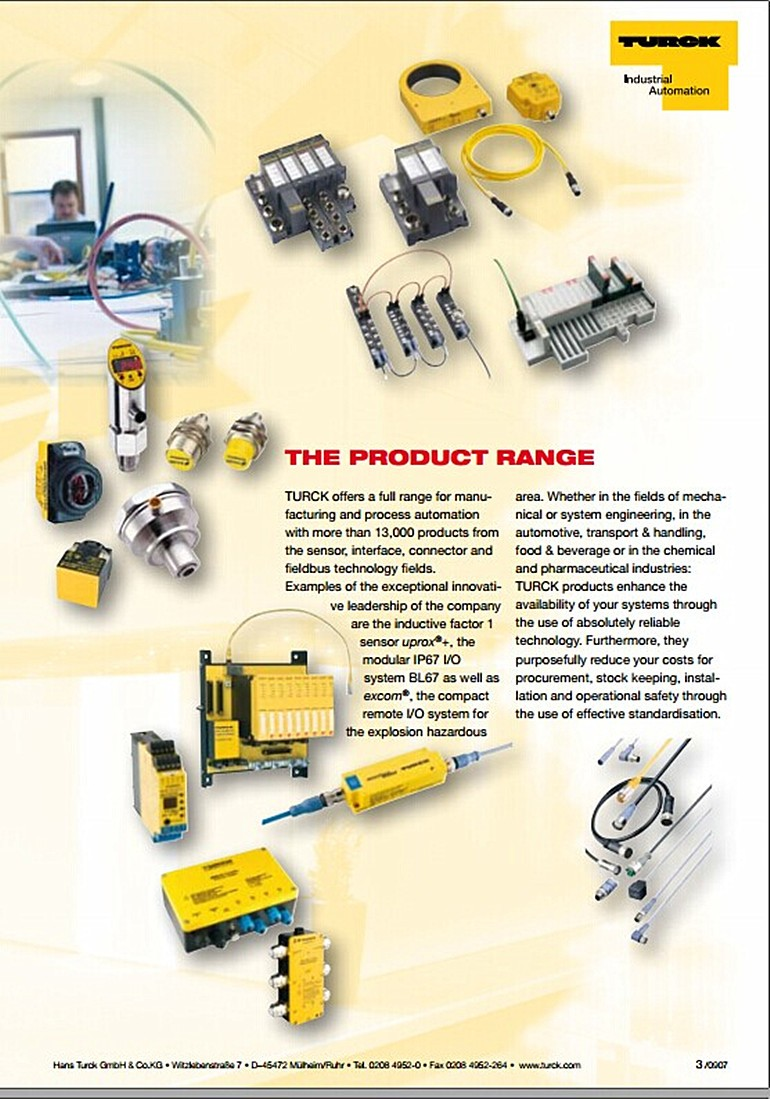 hight resolution of authentic turck turck proximity switches 24v three wire npn normally open bi5 m18