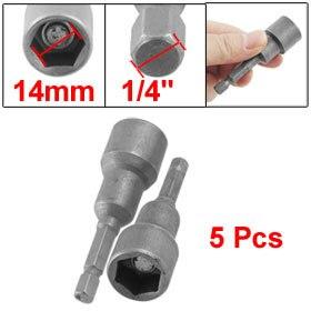 5 Pcs 65mm Long Hex Magnetic Power 9 16 Socket Nut Driver Setters On Aliexpress