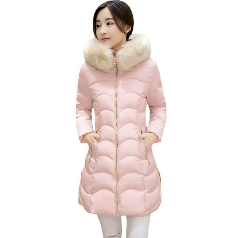 Fashion Winter Jacket Women Parkas Coat Female Hooded Fur Collar For Jackets With Large Plus Size Thickening Long Outerwear new 3xl 4xl 2016 winter jacket women parkas plus size hooded long coat parkas with real fur collar thickening female warm clothes