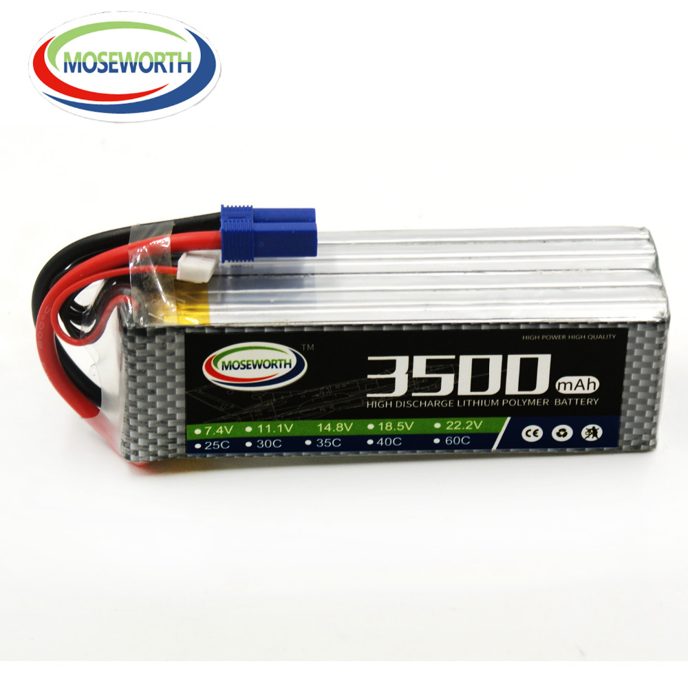 MOSEWORTH RC LiPo battery 6S 22.2V 3500mah 60C for Airplane Helicopter Quadrotor Car Drone AKKU