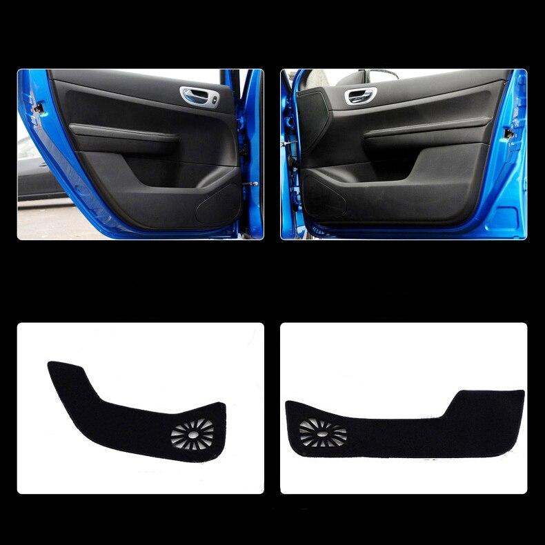 Ipoboo 4pcs Fabric Door Protection Mats Anti-kick Decorative Pads For Peugeot 307 ipoboo 4pcs fabric door protection mats anti kick decorative pads for hyundai elantra 2012 2015