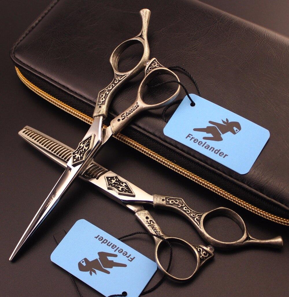 ФОТО Japanese Professional 6 inch Hair Cutting Thinning Scissors Set Kapper Hairdressing Shears Makas Scharen Forbici Capelli