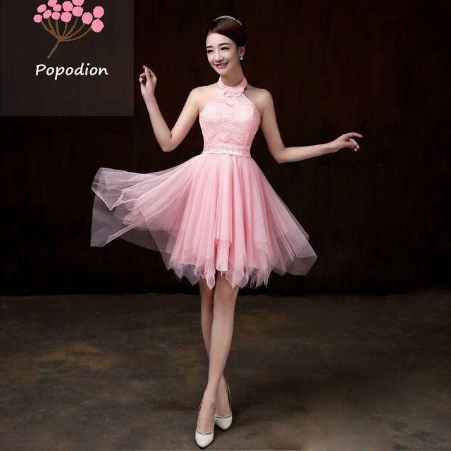 White Bridesmaid Dresses Short Dress For Wedding Guests Sister Party Formal Prom Rom80050