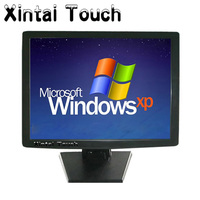 17 Desktop 4 wire Resistive POS Touch Screen Monitor With DVI VGA Input