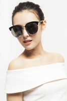Korean Brand Sunglasses Half Frame Sunglasses For Men And Women Star With Glasses Manufacturers Wholesale 216