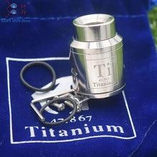 цена на Hot titanium Goon V1.5 RDA 1: 1  24mm Electronic Cigarette atomizer rebuildable tank drop atomizer adjustable Goon 528 25 RDA