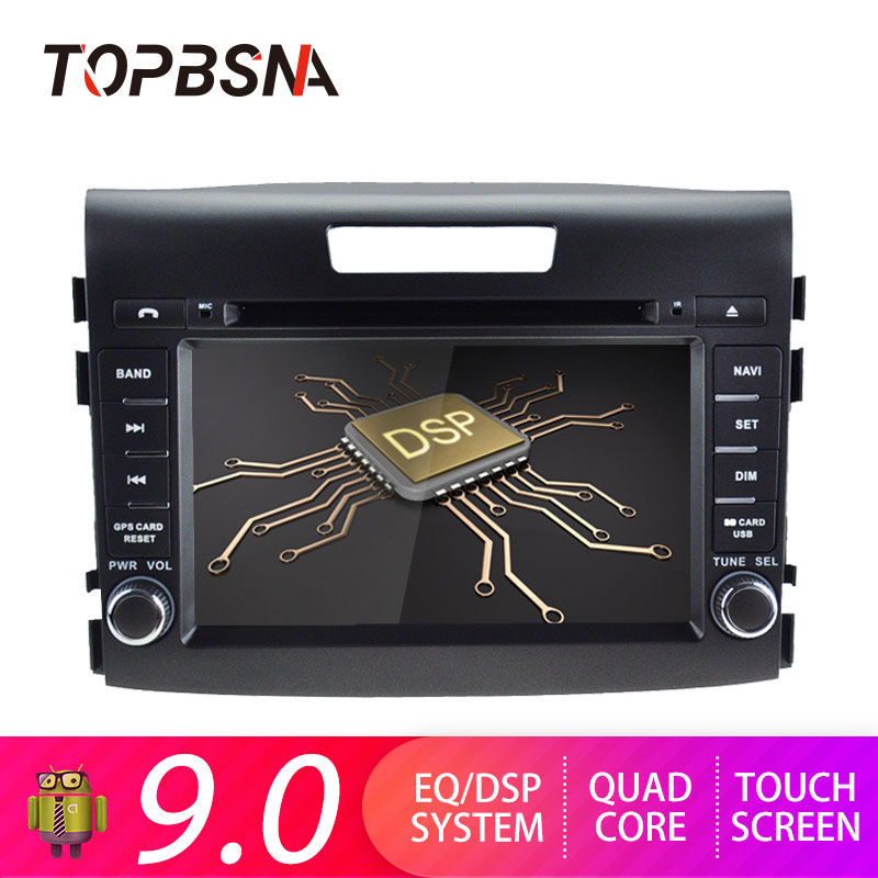 TOPBSNA 2 din Android 9 0 Car Multimedia Player for Honda CRV CR V 2012 2015