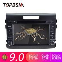 TOPBSNA 2 din Android 9,0 автомобильный мультимедийный плеер для Honda CRV 2012-2015 gps навигация аудио радио рулевое колесо стерео