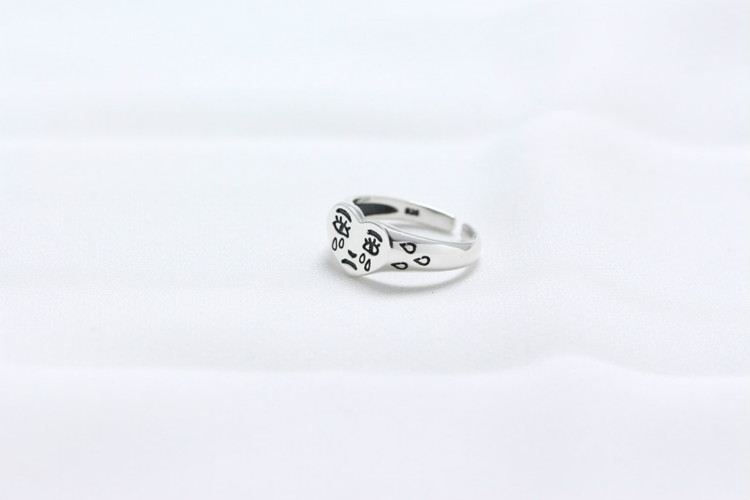 2019 New Product Pure Silver Personal Tears 925 Sterling Silver Rings For Women Simple Heart Womens Rings Jewelry