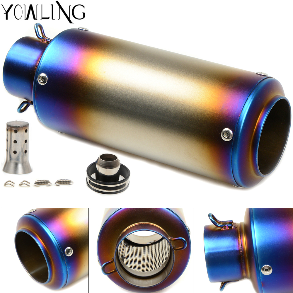 51 61MM Motorcycle Exhaust Muffler Moto Escape Muffle Exhaust Pipe CBR600 CB600 Z750 Z800 GSXR750 125 390 DUKE 250 S1000RR FZ6