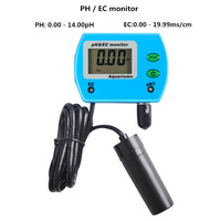 2 in 1Water Quality pH EC Meter Tester with adaptor Large screen LCD Display for Aquarium 30%off