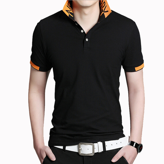 2017 Brand New Summer Polo Shirt Men Fashion Short Sleeve Cotton Slim Fit camisa polo masculina Plus size M-5XL Polo Shirt