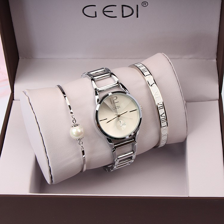 3PC Set GEDI Brand Klockor Klockor Mode Party Ladies Watch Kreativt - Damklockor - Foto 4