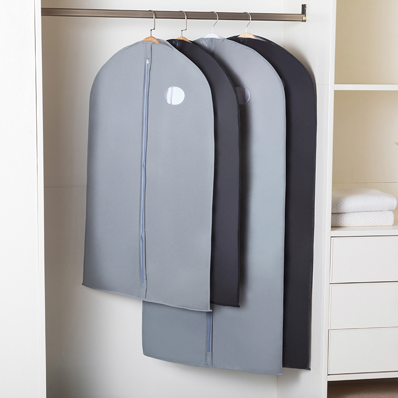 Dress Clothes Dust Cover With Zipper Clothes Storage Bag Garment Costume Protector Suit Case Home Organizer Non-woven Craft