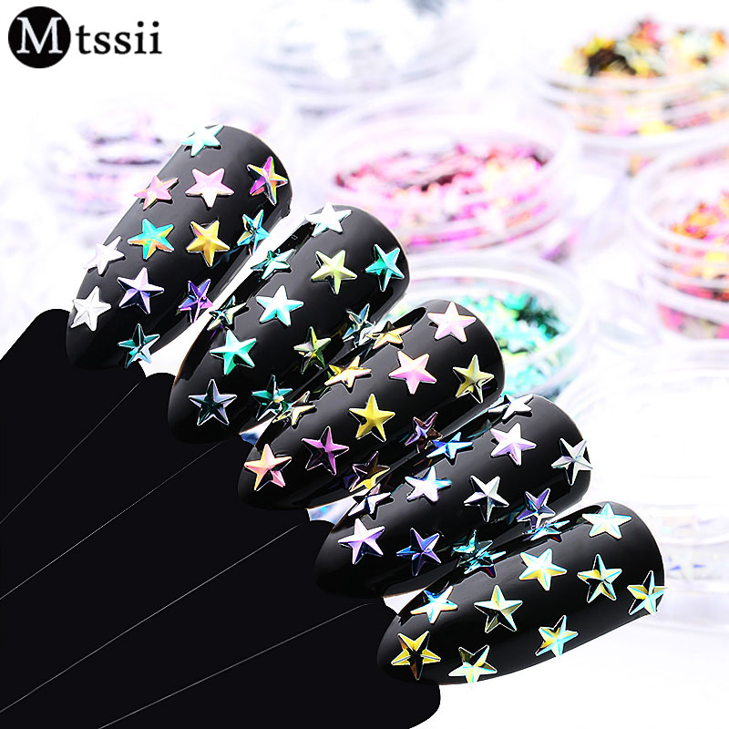 Nail Glitter Skillful Knitting And Elegant Design Mtssii 1box Star Nail Sequin Laser Paillettes Holographic Nail Sparkle Glitter Manicure Dust Tips Nail Art Decoration Paillette To Be Renowned Both At Home And Abroad For Exquisite Workmanship
