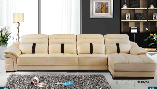 Free Shipping Home Sofa Latest Modern Leather Sectional