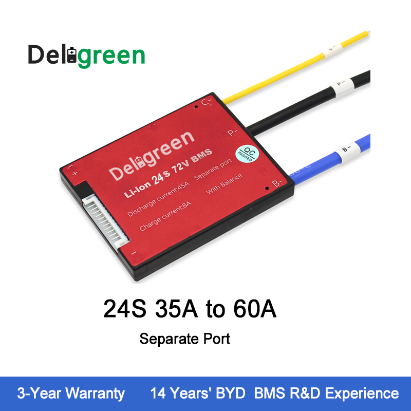 24S35A45A60A <font><b>72V</b></font> PCB/BMS for lithium <font><b>battery</b></font> <font><b>pack</b></font> <font><b>LiFePO4</b></font> with Separate Port Scooter Ebike protection image