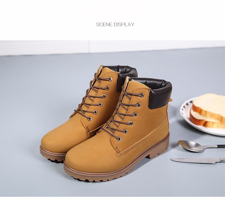 New Arrival Spring Autumn Boots Men PU Leather Unisex Style Fashion Male Work Shoes Lover Martin Boot 21
