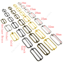 5 шт./упак. металла шлепанцы без задника с открытыми пальцами Tri-скользит-провод ремень с слайдер регулятор пряжки