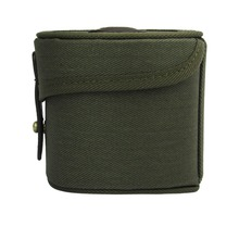 Tourbon Classic Canvas Fly Fishing Reel Case Storage Reel Shaft Box Durable Protective Cover Coils Bag