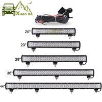 Promo Barra de luces LED XuanBa de 12 72W 28 180W para 4x4, todoterreno, todoterreno, ATV, barco, coche 4WD 12V 24V, barra de luces Led Combo para trabajo fuera de carretera