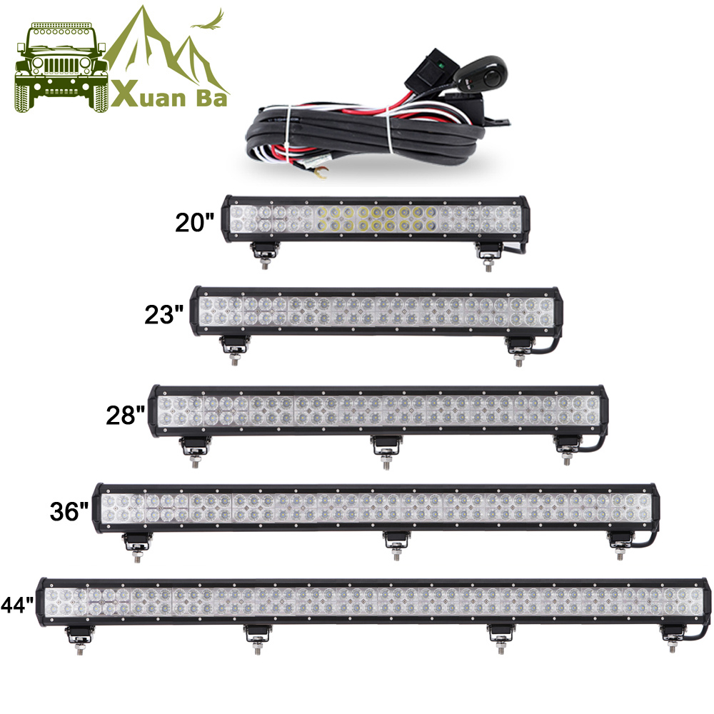 XuanBa 12 quot 72W 28 quot 180W LED Light Bar For 4x4 Off Road Truck SUV ATV Boat Car 4WD 12V 24V Combo Beam Led Work OffRoad Bar Lights in Light Bar Work Light from Automobiles amp Motorcycles