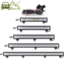 цена на XuanBa 12 72W 28 180W LED Light Bar For 4x4 Off Road Truck SUV ATV Boat Car 4WD 12V 24V Combo Beam Led Work OffRoad Bar Lights