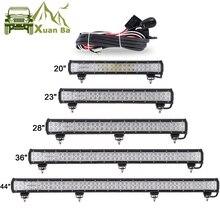 Светодиодный светильник XuanBa для внедорожников, грузовиков, кроссоверов, квадроциклов, лодок, автомобилей 4WD, 12 В, 24 В, светодиодный светильник