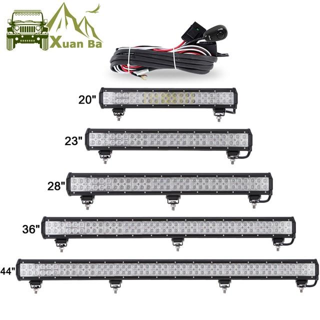 """Xuanba 12 """"72ワット28"""" 180ワットledライトバーのための4 × 4オフロードトラックsuv atvボート車4WD 12v 24vコンボビームled作業オフロードバーライト"""