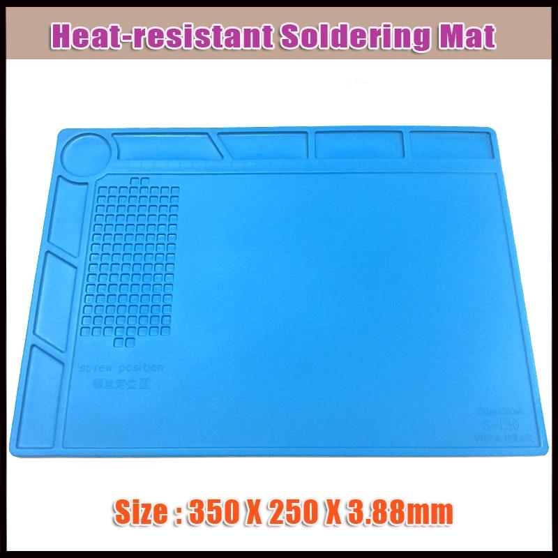 5pcs Heat resistant Soldering Mat Silicone Heat Gun BGA Soldering Station Insulation Pad Maintenance Platform Working