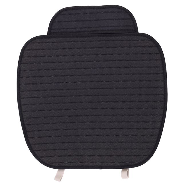 Black Flax Car Seat Cushion Cover Breathable Front Seat Covers Car Styling Four Seasons Voiture Mat Car accessaries