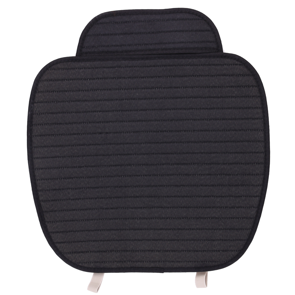 Housse de coussin de siège de Voiture en lin noir housse de siège avant respirante style de Voiture quatre saisons accessoires de Voiture