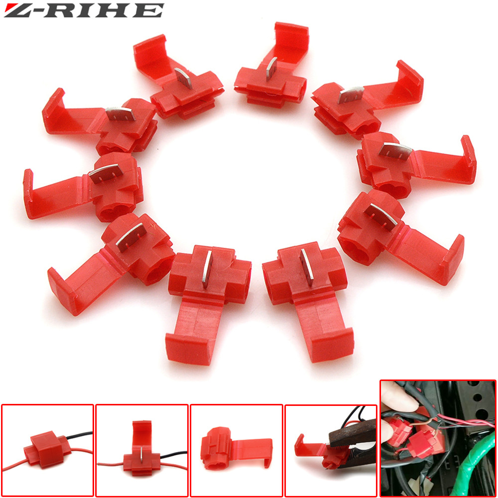 10pcs Wire Terminals Quick Wiring Connector Cable Clamp For Honda Z1000 Diagram Kawasaki Z900 Yamaha Tmax 500 530 Ktm Duke 250 390 In Covers Ornamental