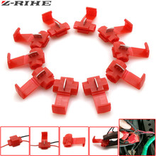 10pcs Wire terminals quick wiring connector cable clamp For Honda Kawasaki z900 z1000 Yamaha TMAX-500 tmax-530 KTM DUKE 250 390 20pcs wire terminals quick wiring connector cable clamp awg 22 18