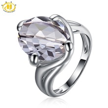 Hutang Pure White Topaz Stable 925 Sterling Silver Solitaire Ring Gemstone For Girls's New