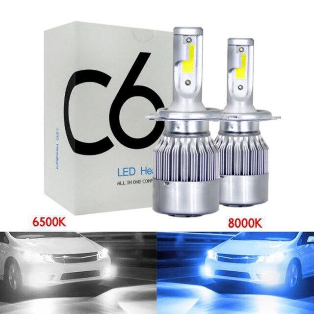 1pairs Auto 6500K 8000K LED H4 H1 H3 H8 H9 H11 9005 HB3 9006 HB4 9004 9007 H13 880 H7 LED Headlight Bulbs Car Light Lamp 12V