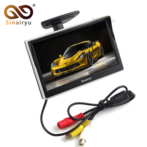 Sinairyu 2 Ways Video Input 5 Inch TFT Display 800x480 Definition Digital Panel Color Car Parking Monitor For Rear view Camera