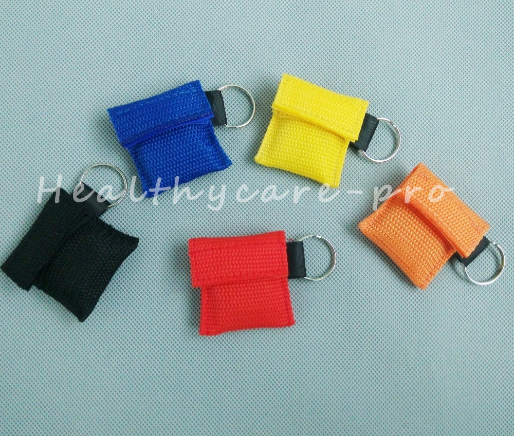 ФОТО 100 PCS /lot CPR MASK WITH KEYCHAIN CPR FACE SHIELD For Cpr/AED 5 COLORS NEW